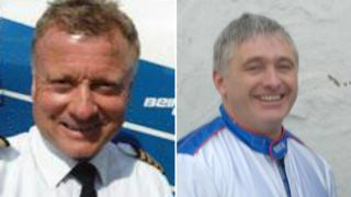 Captain Brian Bridgman and John Kent