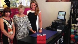 Staff at ISIS shop in Malvern