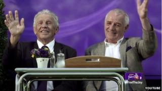 John Giles and Eamon Dunphy