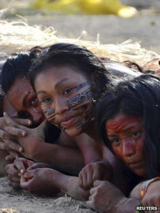Participants in an Amazon festival (Image: Reuters)