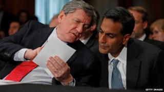 Richard Holbrooke and Richard Verma (right) - File picture