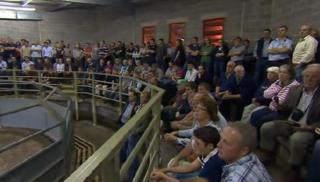 About 500 people voted in favour of action at Market Drayton livestock market on Thursday