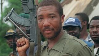 A photo dated 29 May 1990 shows rebel leader Charles Taylor