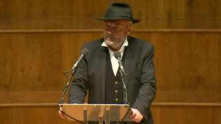 George Galloway in Belfast's Ulster Hall