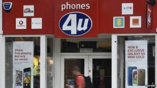 Phones 4U shop in West London