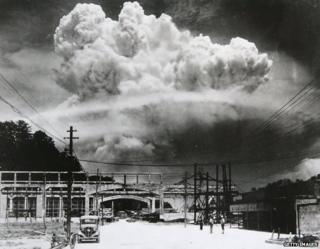 A cloud over the Nagasaki