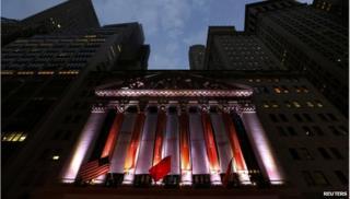 New York Stock Exchange with Alibaba logo