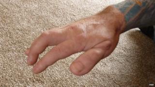 Hand of Mark Evans