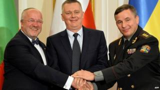Poland, Ukraine and Lithuania form joint military unit