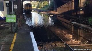 Flooded tracks