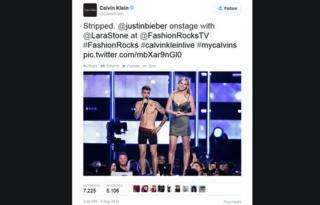 A 9 September Tweet from Calvin Klein