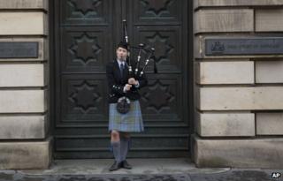 A piper in Edinburgh