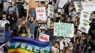 Marchers in London