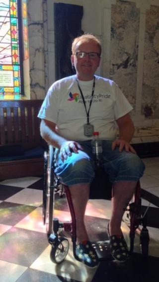 Disability Pride organiser Michael Holden