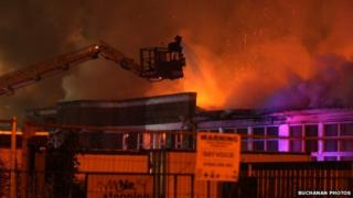 Fire at St James Primary School