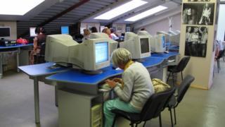 Internet cafe in Yekaterinburg