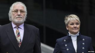 Dave Lee Travis and wife Marianne