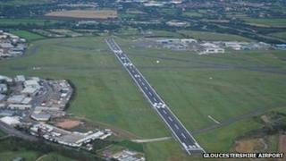 Gloucestershire Airport runway