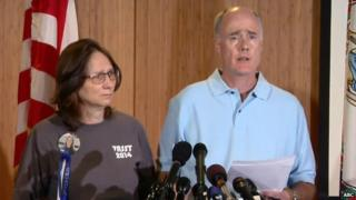John Graham (right) and wife Susan held a press conference in Charlottesville, Virginia, on 21 September 2014