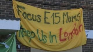 Focus E15 Mothers campaign banner