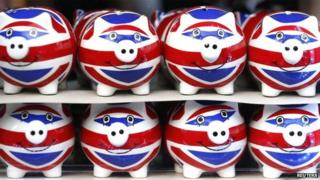 Union flag piggy banks