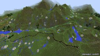 Snowdonia in Minecraft GB map