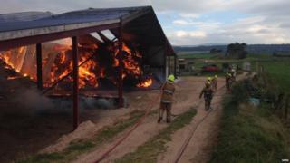barn fire near Alturlie Point