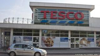 Tesco store front