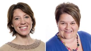 Etholle George is at BBC Radio Suffolk (left) and Emma Britton is at BBC Somerset