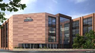 Artist's impression of new headquarters