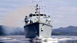 Royal Navy minesweeper