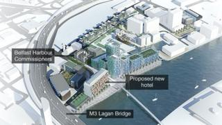 The map gives an impression of how City Quays could look