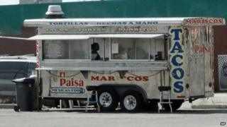 The taco wagon that the attorney general alleges was selling methamphetamine in the Denver area