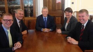 DUP ministerial team