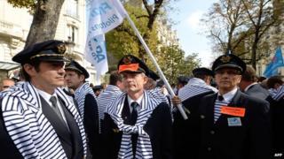 Air France pilots protest
