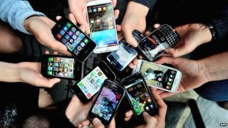 Various smartphone models