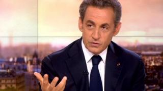 Nicolas Sarkozy speaking on France 2 TV on 21 September