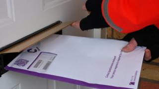 Postal delivery of census form