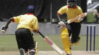 Uganda's batsmen pictured in 2007