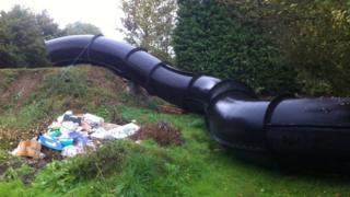 Stonham Aspal water flume
