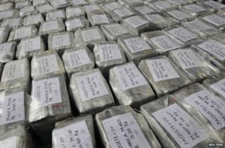Bags of confiscated cocaine (generic image)