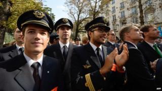 Pilots on strike