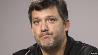 Nascar Sprint Cup Series driver Tony Stewart during a press conference at Atlanta Motor Speedway in Hampton, Georgia 29 August 2014