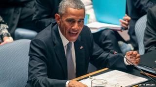 US President Barack Obama chairs a Security Council meeting on global terrorism during the United Nations General Assembly on September 24, 2014 in New York City.