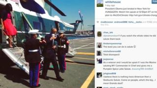 Obama on instagram