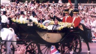 Elizabeth, The Queen Mother on her 100th birthday