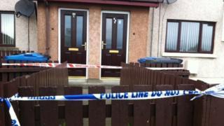 Police cordon at Creggan flat