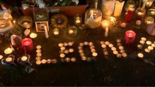 Tributes to Leon Briggs outside Luton police station