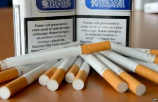 Cigarettes on display in France - 17 July 2013