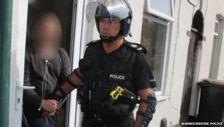 Officers carried out raids in Reading, Slough, Nottingham, Wolverhampton and Warwickshire